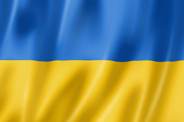 ukrainian flag - ukraine stock pictures, royalty-free photos & images