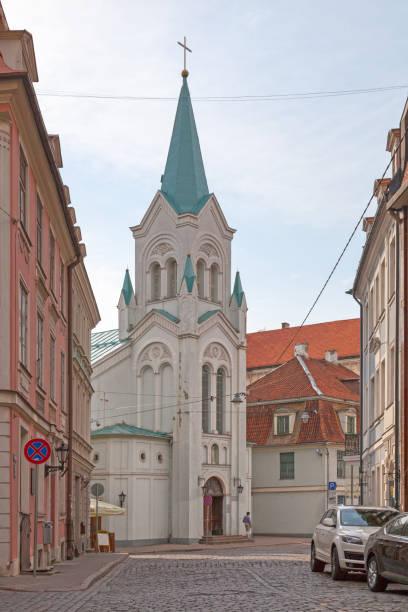 Ukrainian Greco-catholic church in Riga stock photo