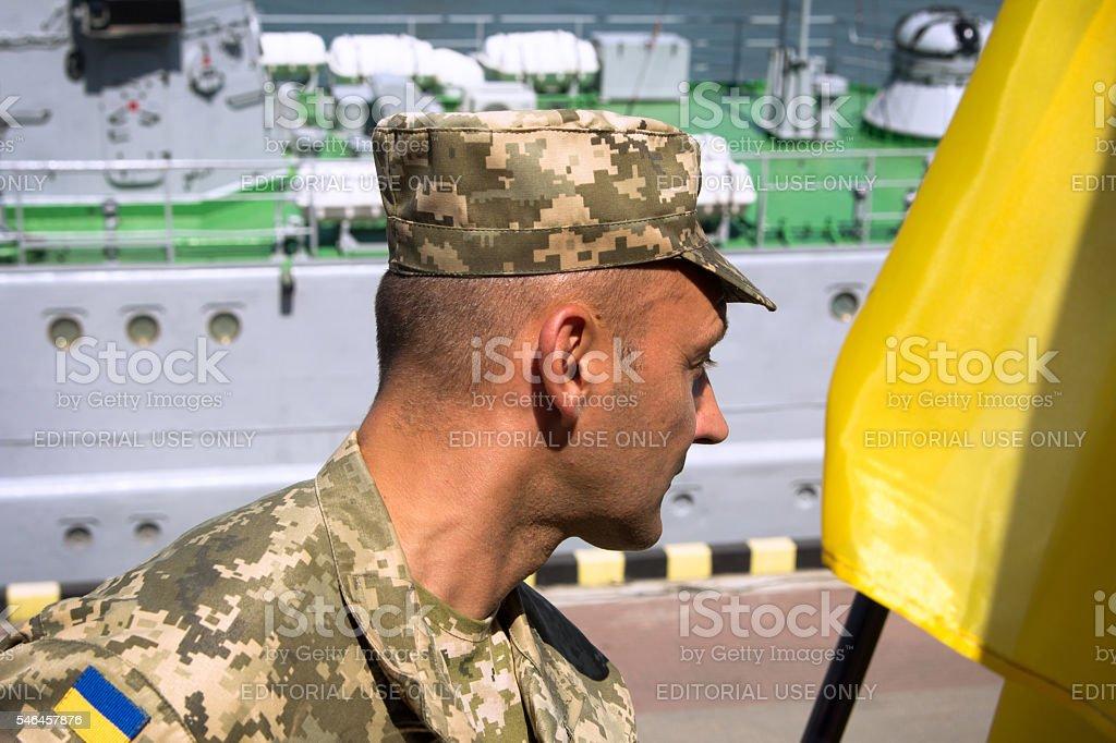Odesa, Ukraine - July 03, 2016: Ukrainian Military officer in stock photo