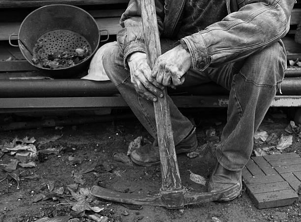 Ukrainian miner stock photo