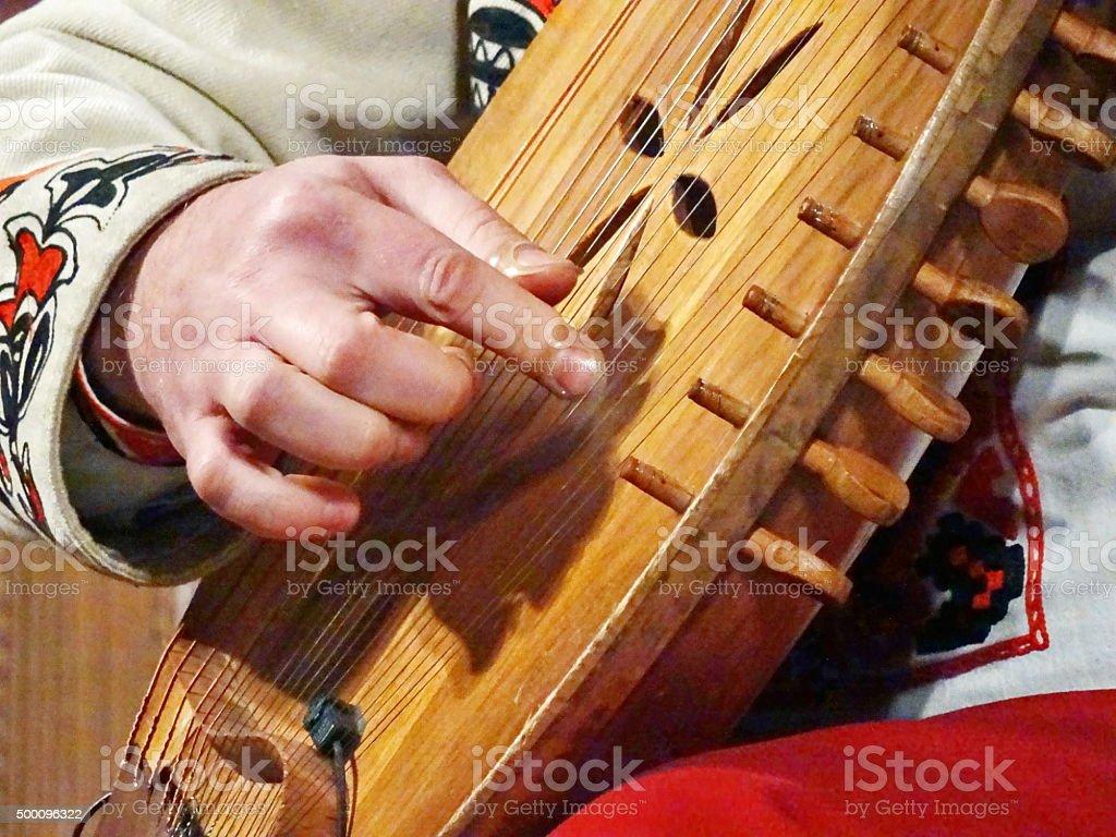 Украинская national instrument bandura стоковое фото