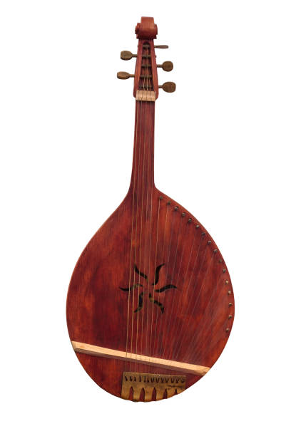 Cтоковое фото Ukrainian people's instrument bandura isolated on a white background