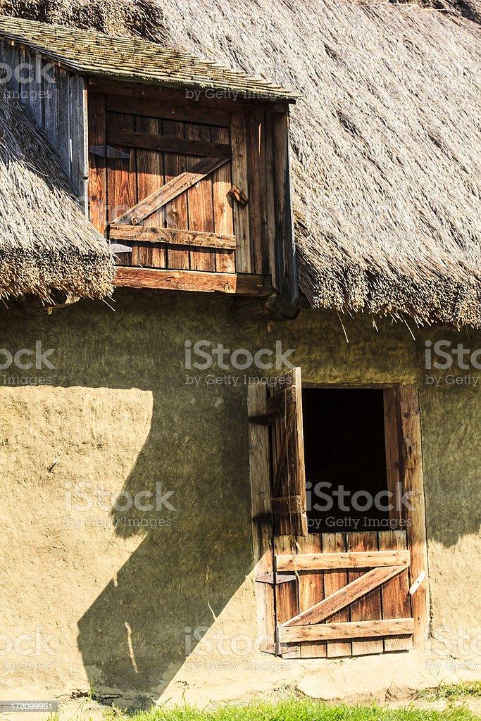 Ukrainian rural barn royalty-free stock photo