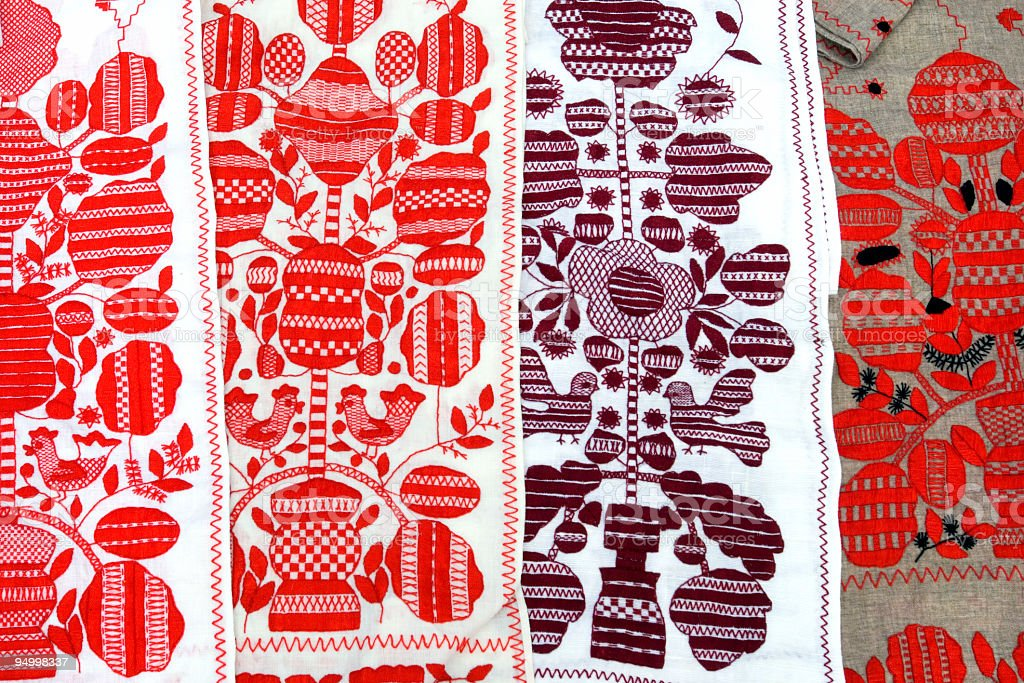 Ukrainian towels royalty-free stock photo