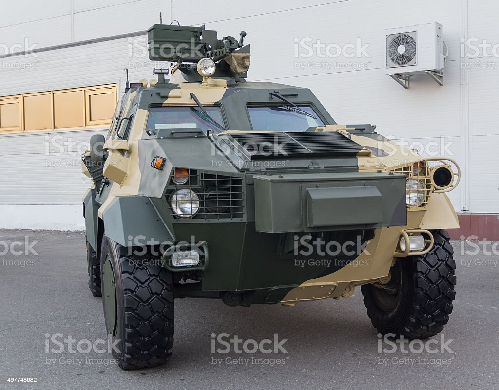 Ukrainian-made armored car Dozor-B. Army and industry stock photo