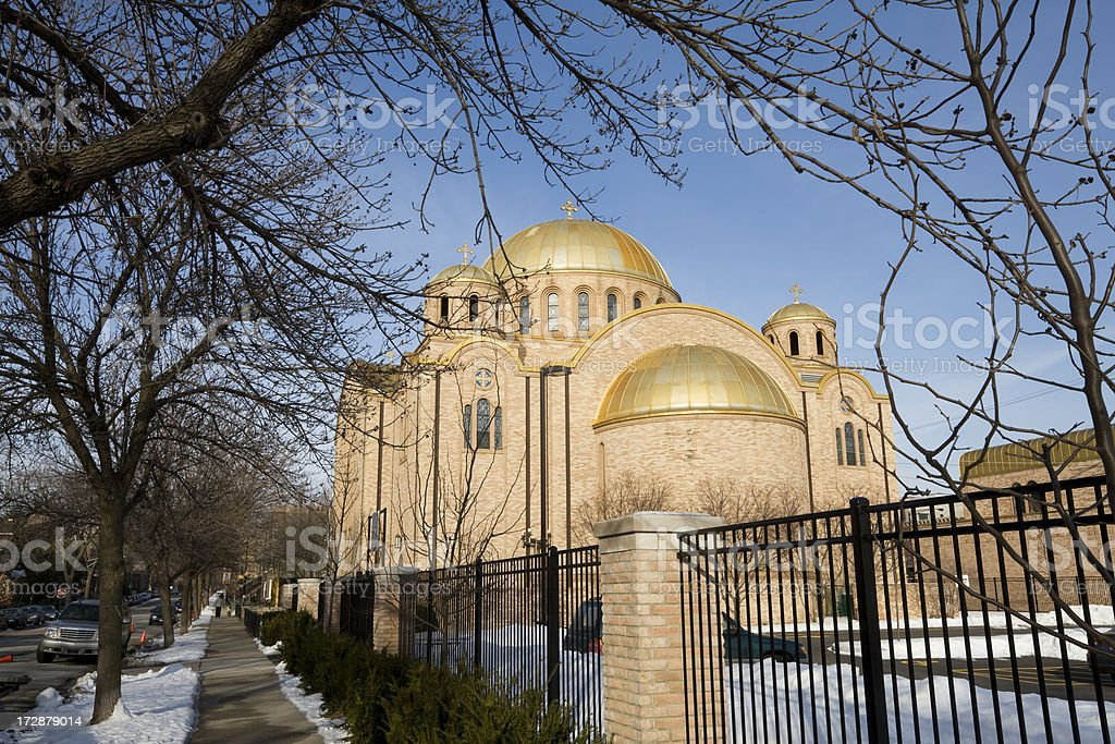 Ukranian Church in Chicago royalty-free stock photo