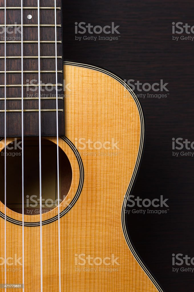 Ukulele hawaiian guitar stock photo