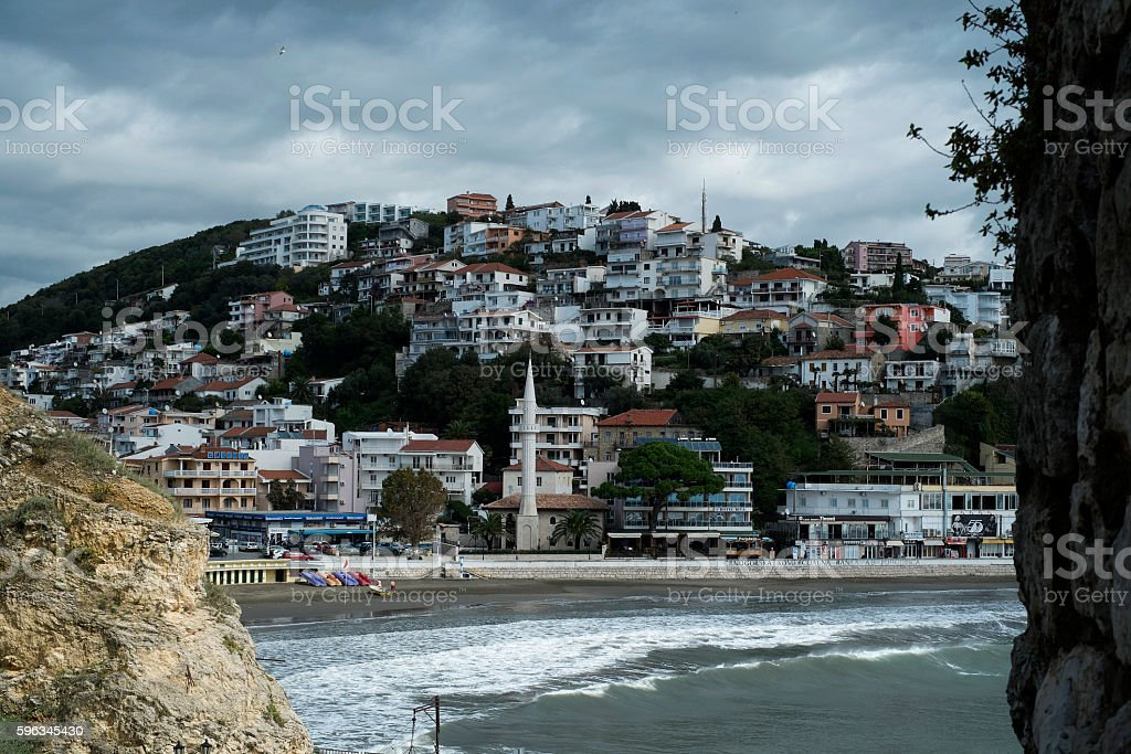 Ulcinj is the popular resort with the cozy beach. royalty-free stock photo