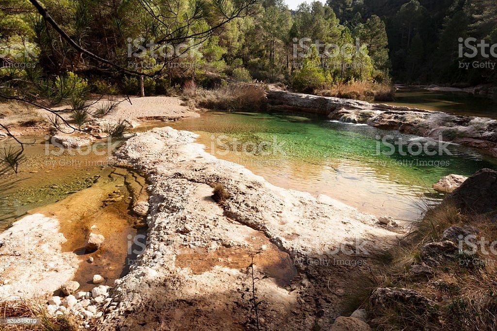 Ulldemó river stock photo