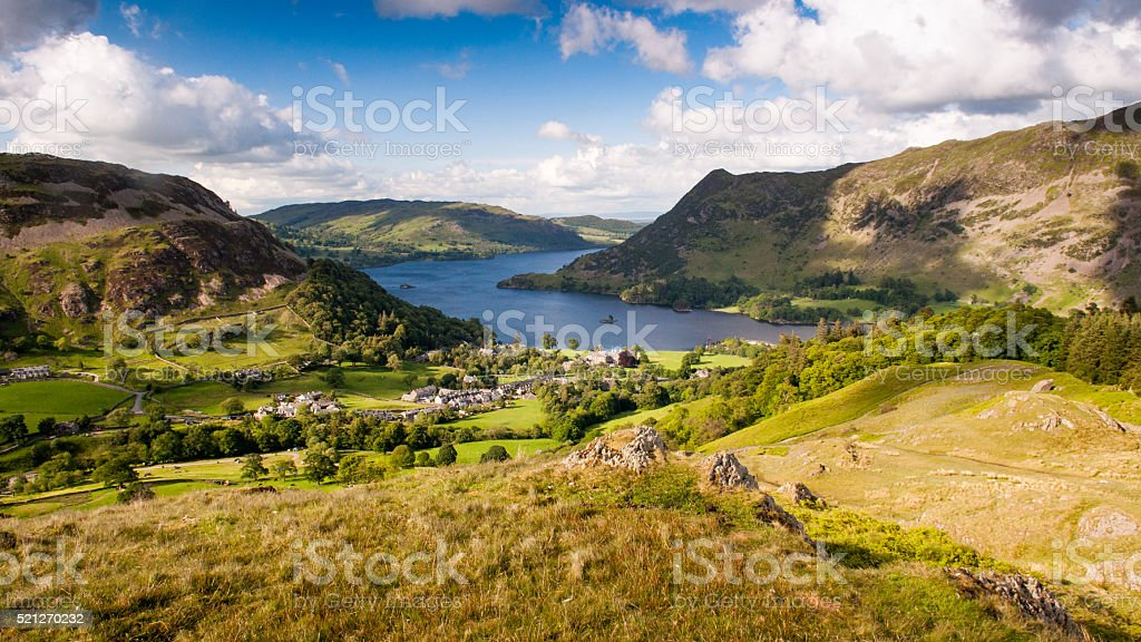 Ullswater at Glenridding stock photo
