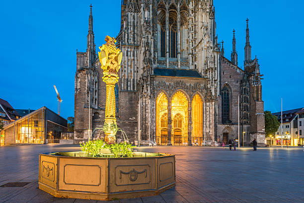 Ulm, Germany Ulm, Germany - Minster, with 161.5 metres tallest church in the world. ulm stock pictures, royalty-free photos & images