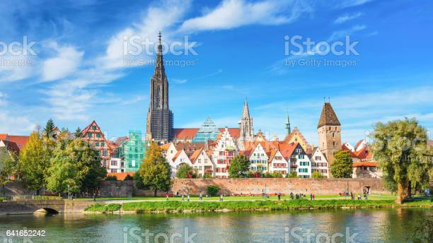 Panoram View of the City of Ulm, Germany
