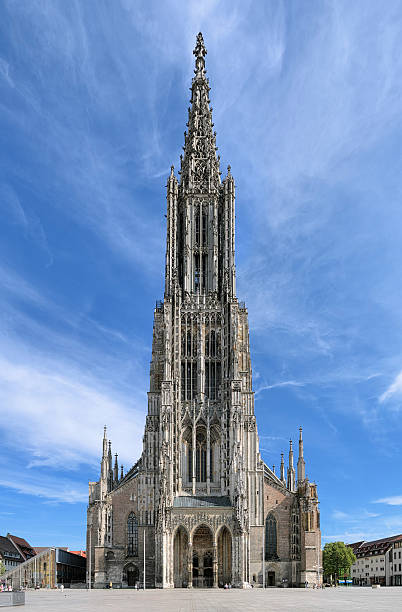 Ulm Minster, Germany Ulm Minster, the tallest church in the world with height 161.5 metres (530 ft), Germany ulm minster stock pictures, royalty-free photos & images