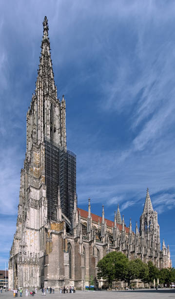 Ulm Minster, Germany Ulm, Germany - September 18, 2012: Ulm Minster. This is the tallest church in the world with height 161.5 metres (530 ft). It was started in 1377 and completed on May 31, 1890. ulm minster stock pictures, royalty-free photos & images
