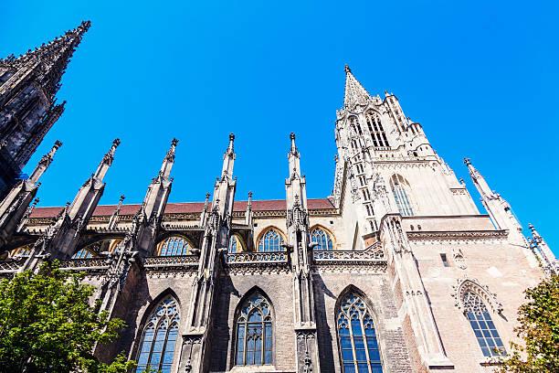 Ulm Minster Monumental Ulm Minster. Ulm, Baden-Wurttemberg, Germany. ulm minster stock pictures, royalty-free photos & images