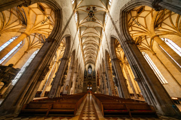 Ulm Munster, Germany, Europe Ulm, Germany, Europe- April 3, 2018:  view showing a church in Ulm Germany ulm stock pictures, royalty-free photos & images