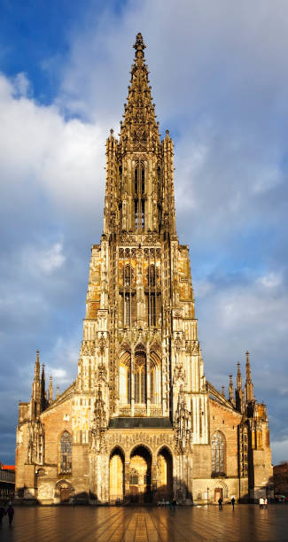 Ulm A photography of the beautiful church in Ulm Germany ulm stock pictures, royalty-free photos & images