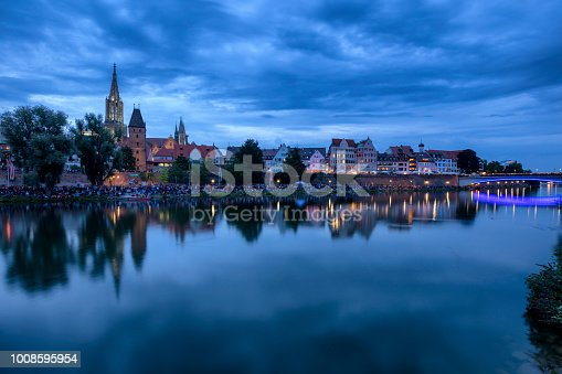 istock Ulm, skyline at night 1008595954