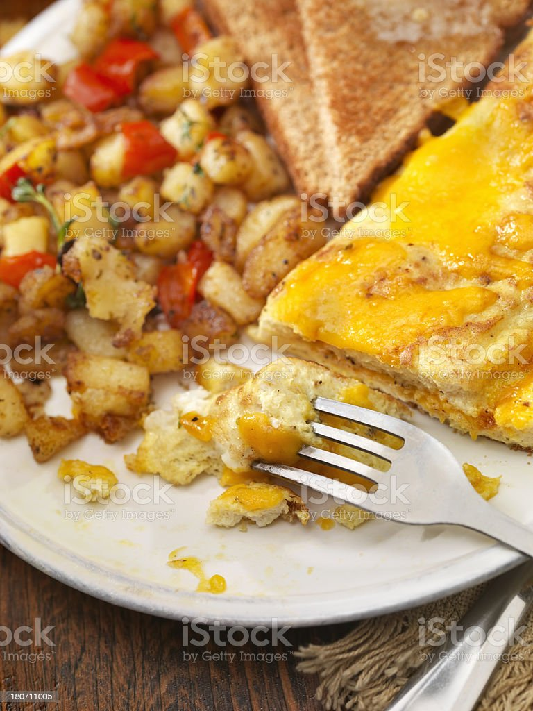 Ultimate Cheddar Cheese Omelette royalty-free stock photo