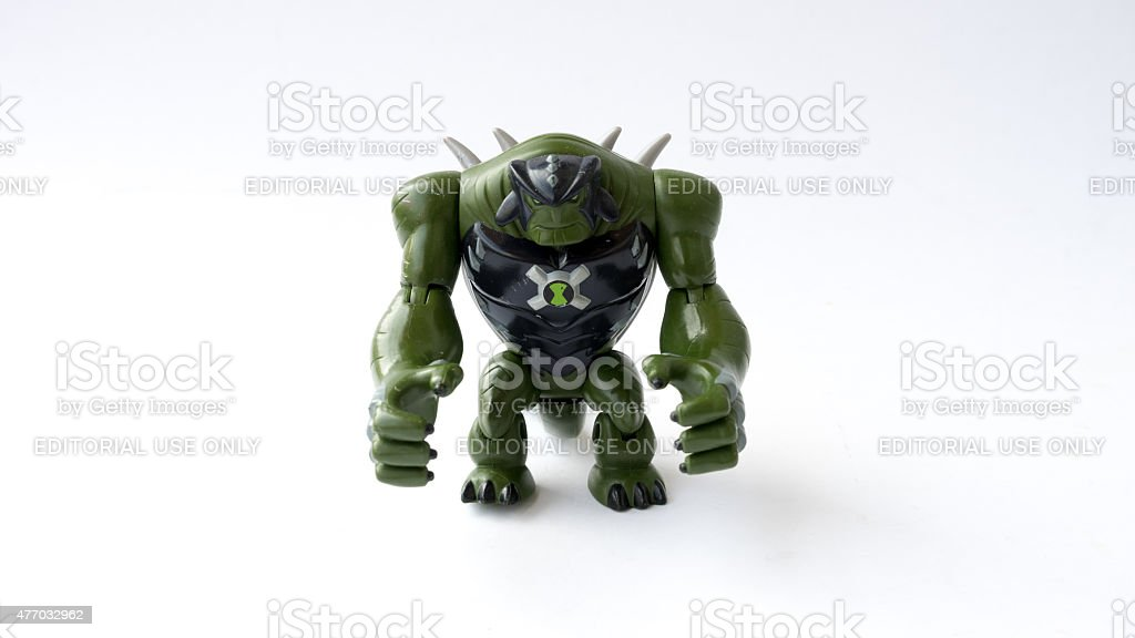 Ultimate Humungousaur toy figure from Ben 10 Alien Force stock photo