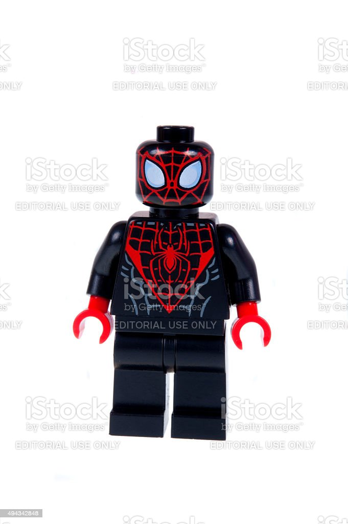 Ultimate Spiderman Minifigure stock photo