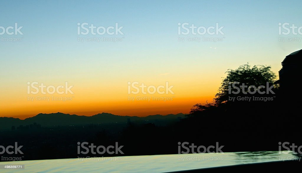 Ultimate view at Sunrise or Sunset stock photo