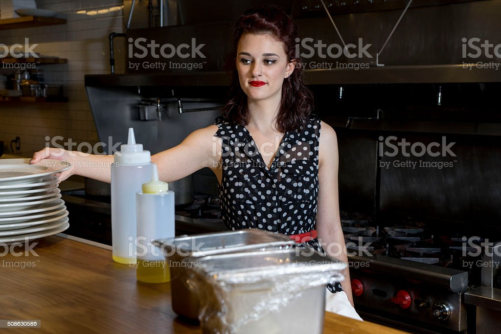 Ultra Feminine Chef stock photo