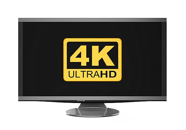 4 k ultra hd-symbol - 4k led tv stock-fotos und bilder