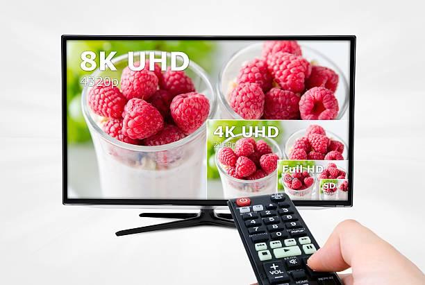 Ultra HD-Fernseher. 8 K Fernseher Entschließung Technologie – Foto