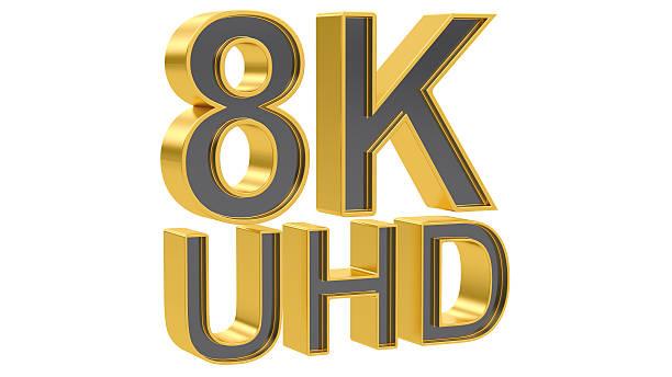 8K Ultra HD concept, 3D rendering – Foto
