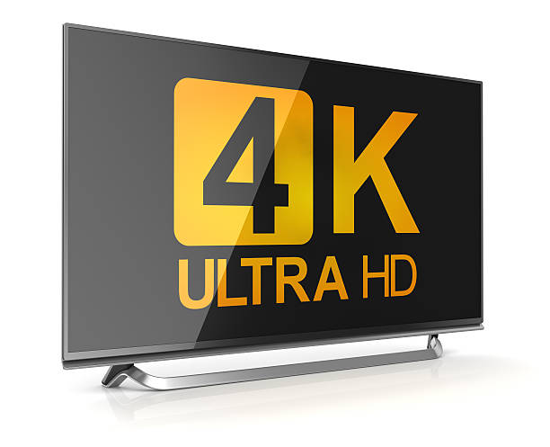 4K ultra hd tv 4K ultra hd tv , This is a computer generated and 3d rendered picture. ultra high definition television stock pictures, royalty-free photos & images