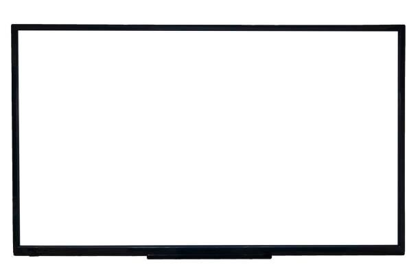 Ultra hd tv with blank screen stock photo