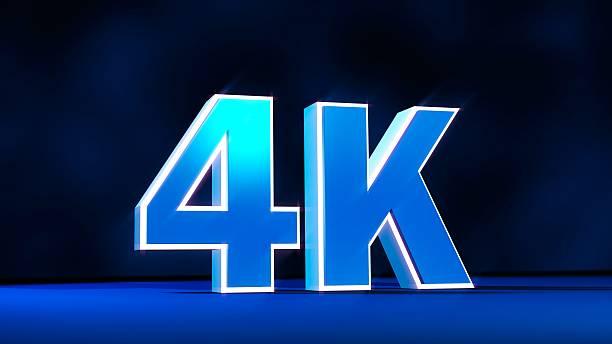 4 k ultra hd-auflösung dreidimensionale glow text - 4k led tv stock-fotos und bilder