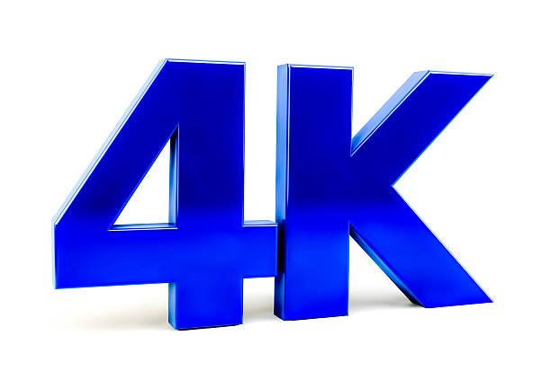 4 k ultra hd-technologie isolieren logo-symbol - 4k led tv stock-fotos und bilder