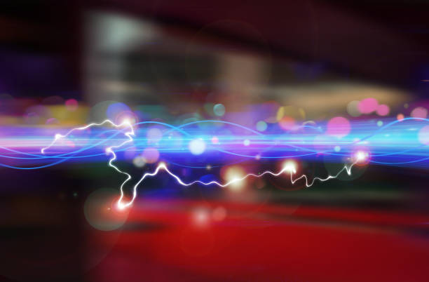 Ultra Light Speed Wave. Faster Data Technology Moving Through Space. stock photo