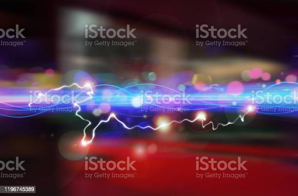 Photo of Ultra Light Speed Wave. Faster Data Technology Moving Through Space.