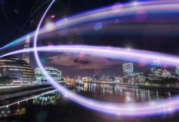 Ultra London light Wave 1 stock photo