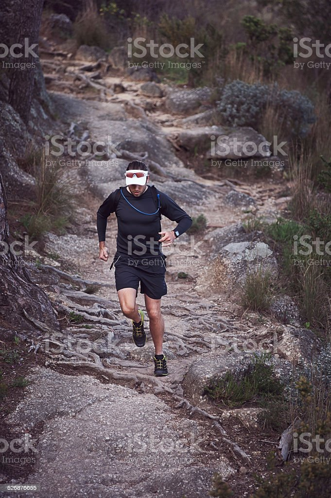 ultra marathon man stock photo