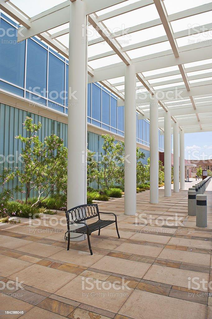 Ultra Modern Hospital Patio Waiting Room, Atrium royalty-free stock photo