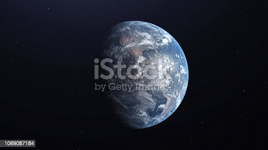 istock Ultra Realistic Earth from Space 3d illustration 1069087184