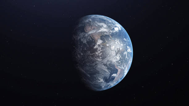 ultra realistic earth from space 3d illustration - earth stock pictures, royalty-free photos & images