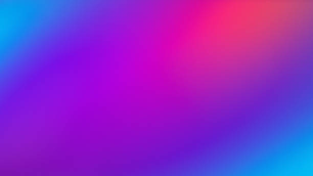 Ultra Violet Colorful Gradient Blurred Motion Abstract Technology Background stock photo