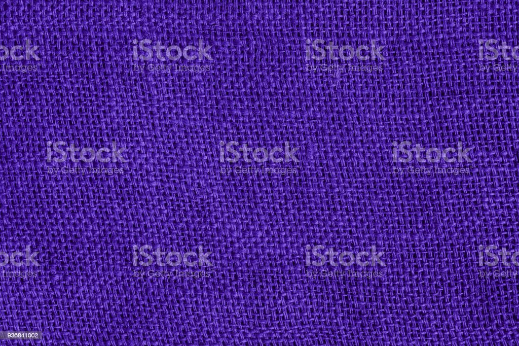 Ultra Violet fabric texture pattern for background Color of the Year 2018 stock photo