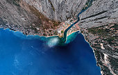 Omis resort aerial view, Dalmatian Coast, Croatia.