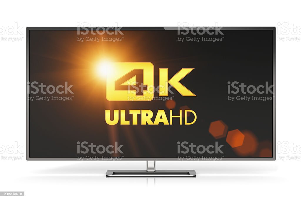 4K UltraHD TV stock photo