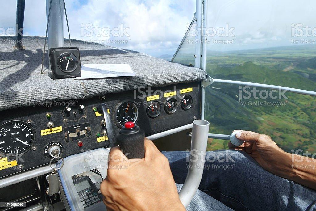 Ultralight airplane cabin interior royalty-free stock photo