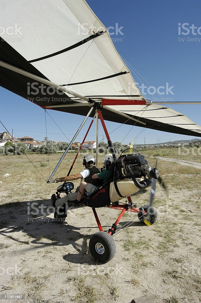 Ultralight ready for departure royalty-free stock photo