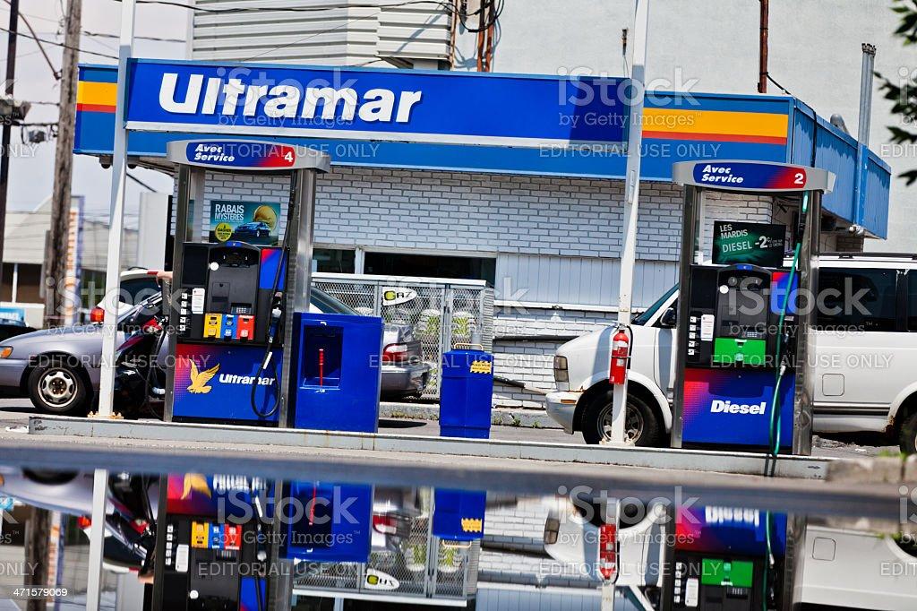 Ultramar gas station royalty-free stock photo