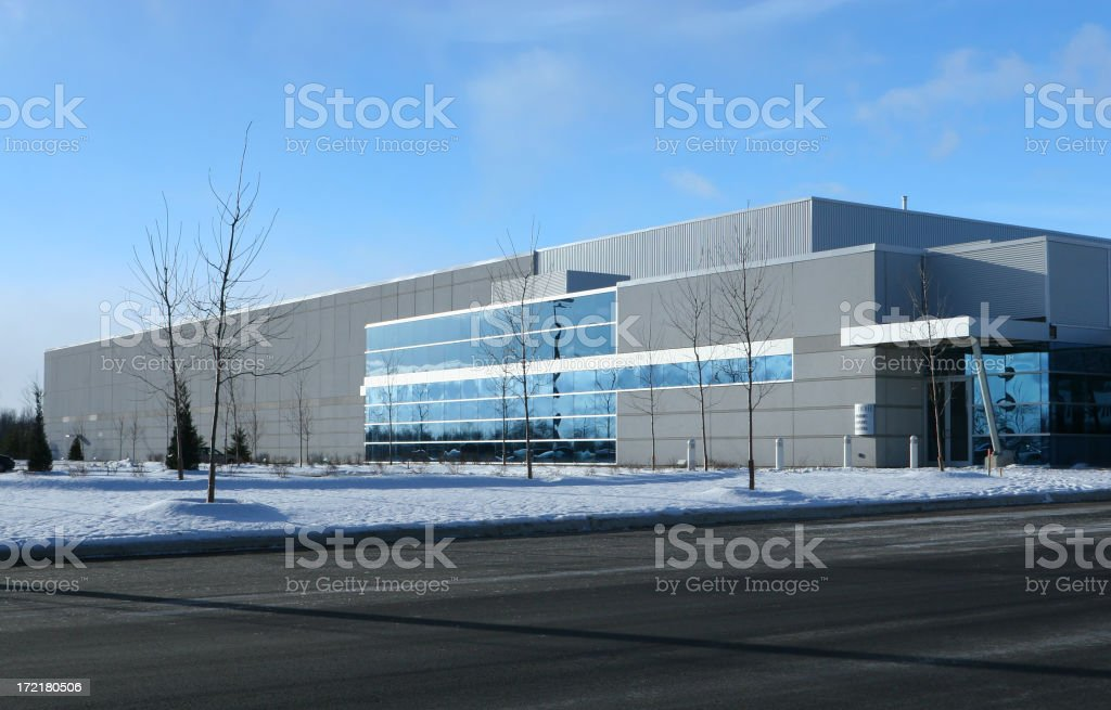 Ultra-modern Industrial Building royalty-free stock photo