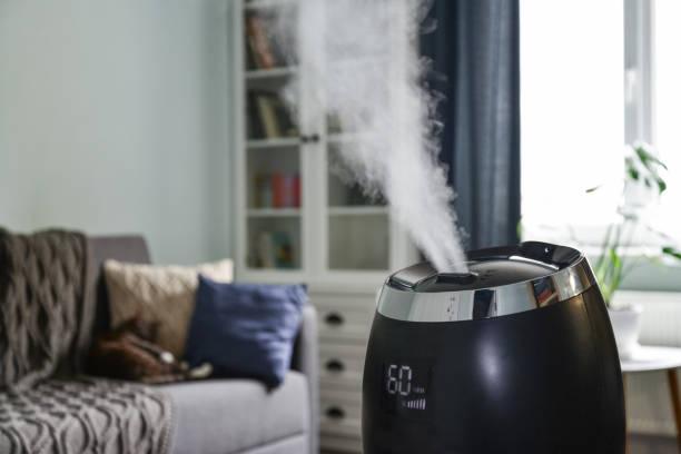 超音波冷たい霧加湿器 - 加湿器 ストックフォトと画像